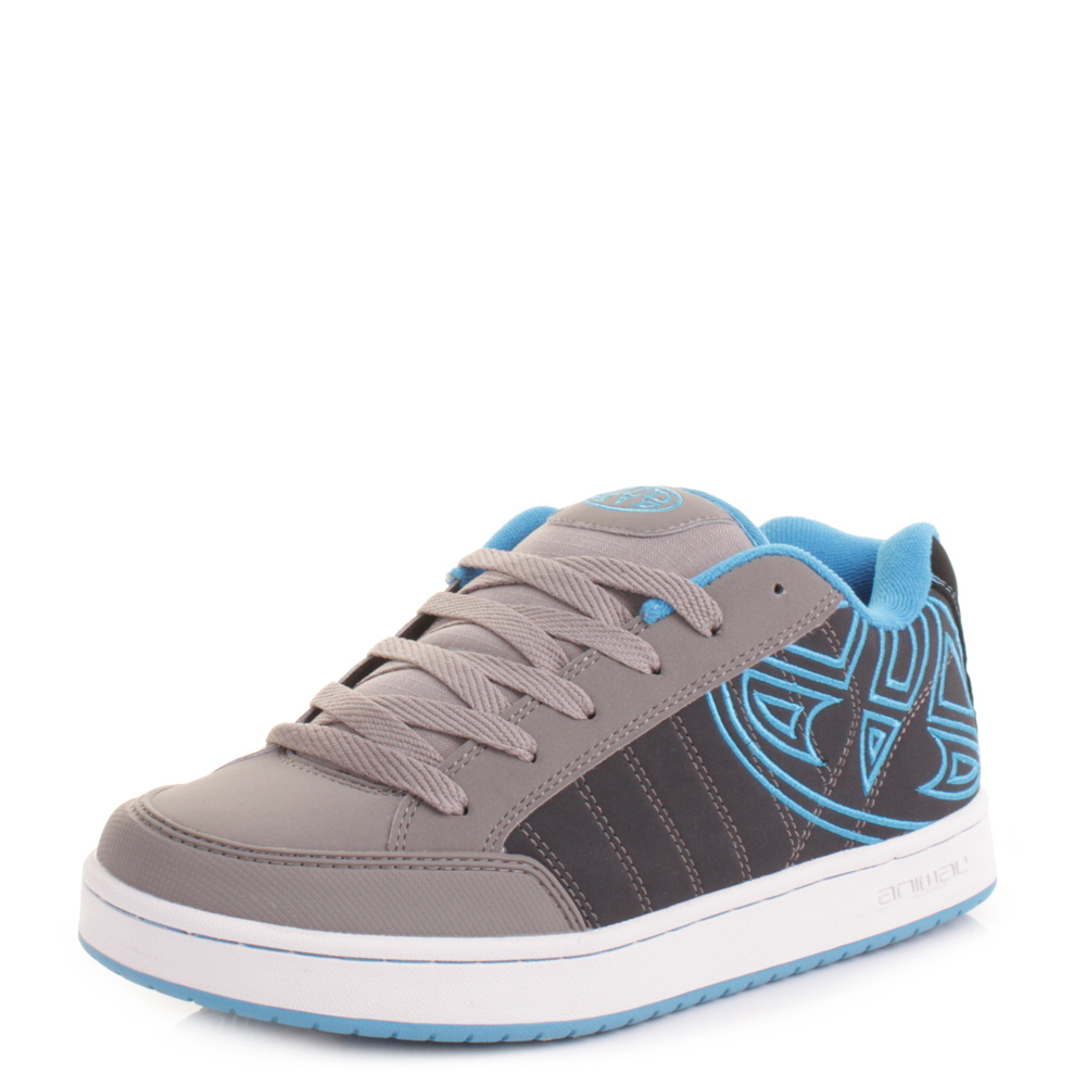 mens animal mitch grey skate casual trainers shoes