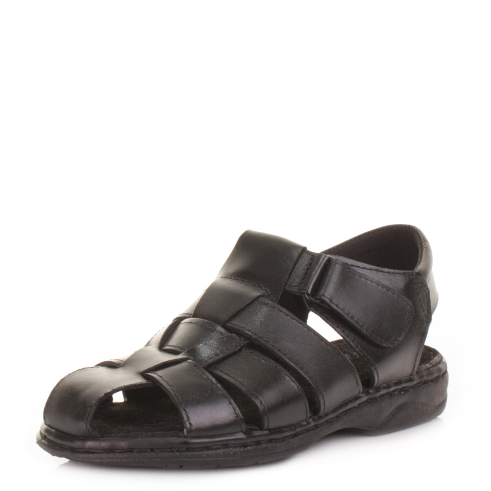 Mens Comfort Fisherman Real Leather Summer Sandals Shoes ...