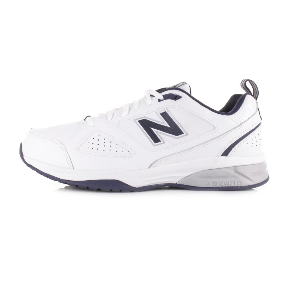 mens new balance mx624wn4 white navy leather sports