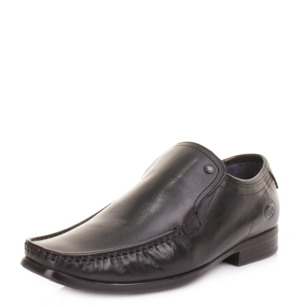 base carnoustie black slip on formal work office