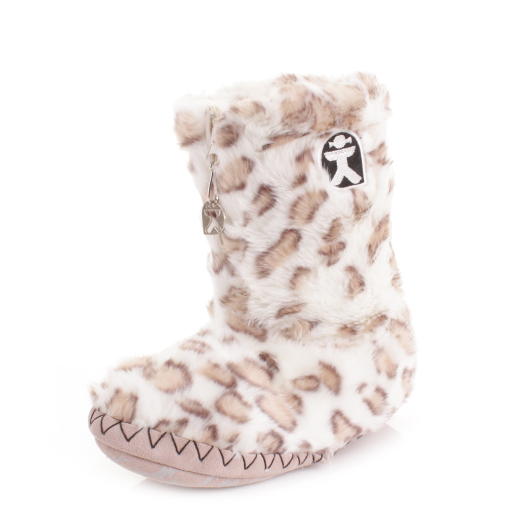 Bedroom Athletics Cole Slipper Boots Latest Bedroom Bed Bedroom Ideas Upholstered Headboard Lighting Design For Bedroom: WOMENS BEDROOM ATHLETICS COLE WHITE LEOPARD FAUX FUR