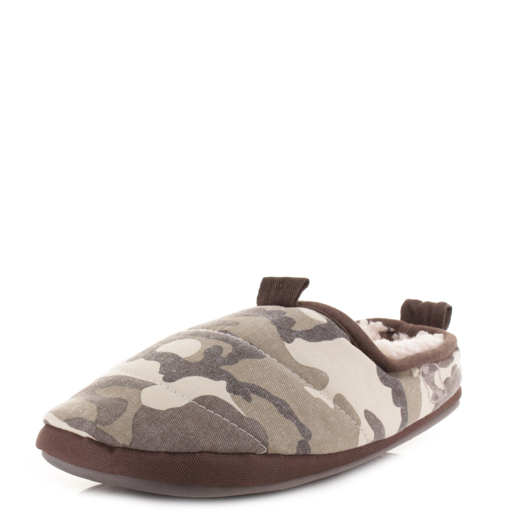 bedroom athletics hackman brown camo 211 036 902 mens slippers shoes