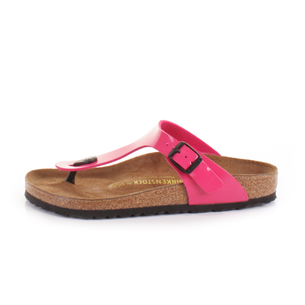 damen sandalen birkenstock gizeh rosa lack leder fu bett 36 41 ebay. Black Bedroom Furniture Sets. Home Design Ideas