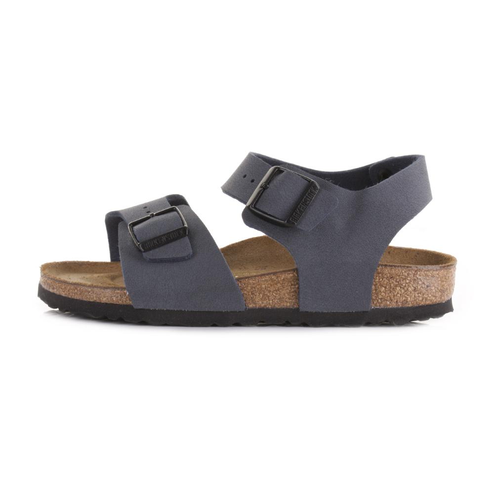 Womens birkenstock new york navy flat casual sandals shoes for Birkenstock new york