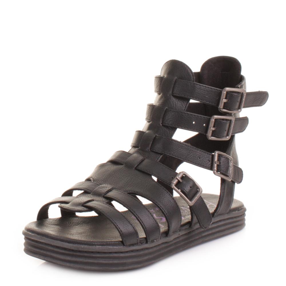 Womens sandals gladiator - Womens Blowfish Rincon Black Strappy Buckle Gladiator Sandals Ladies Size 3 8