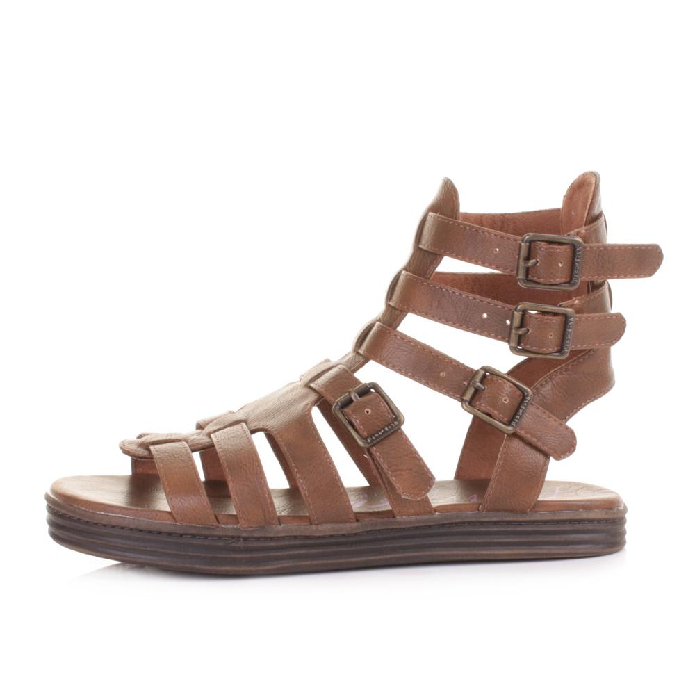 Womens sandals gladiator - Womens Blowfish Rincon Whiskey Strappy Roman Gladiator Sandals Size 3 8 Ebay