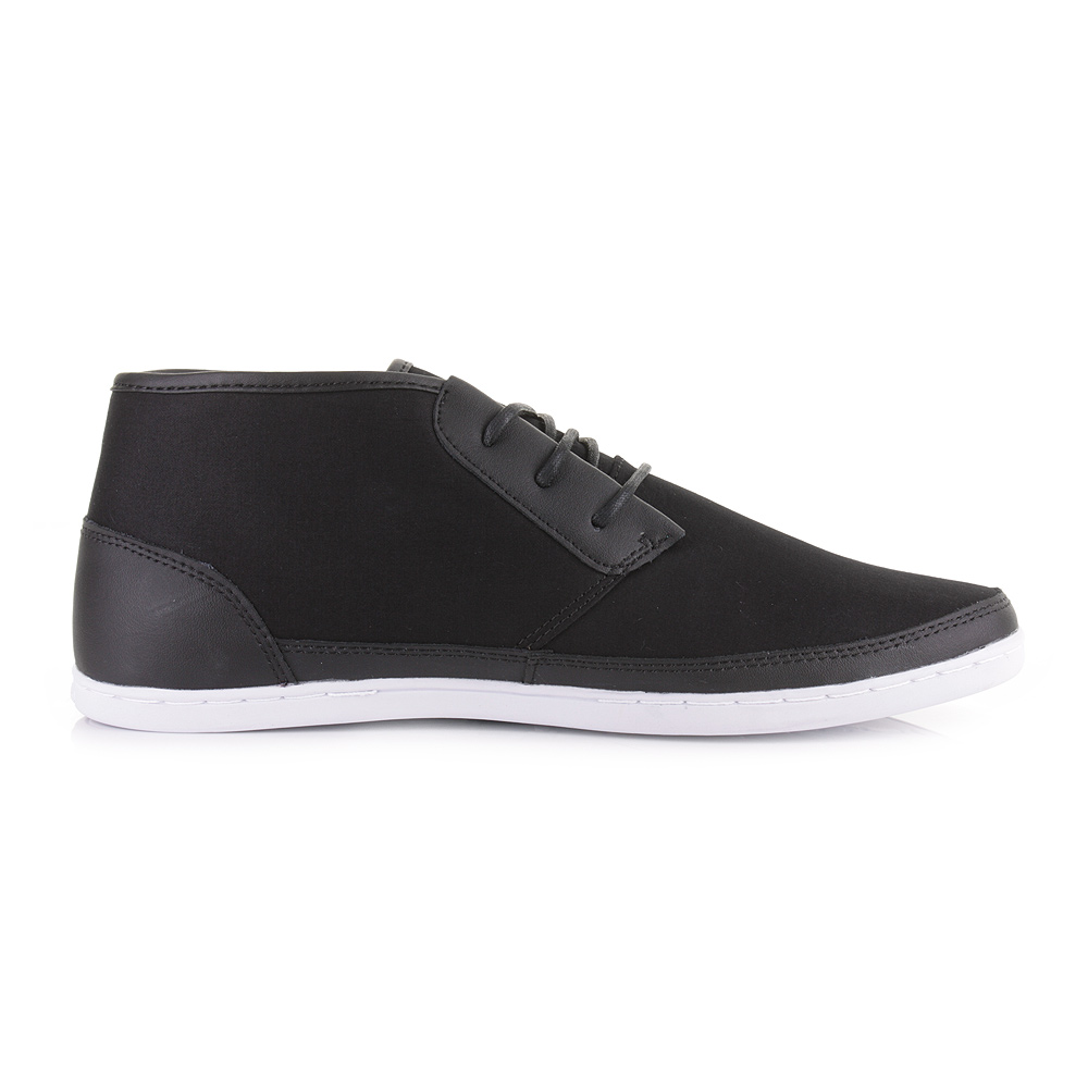 mens boxfresh milford black canvas mid top casual fashion