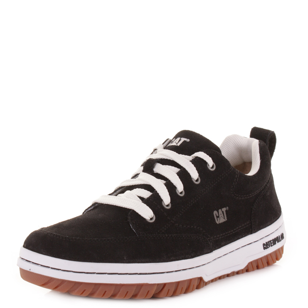 Mens Caterpillar Decade Black Suede Lace Up Casual Shoes