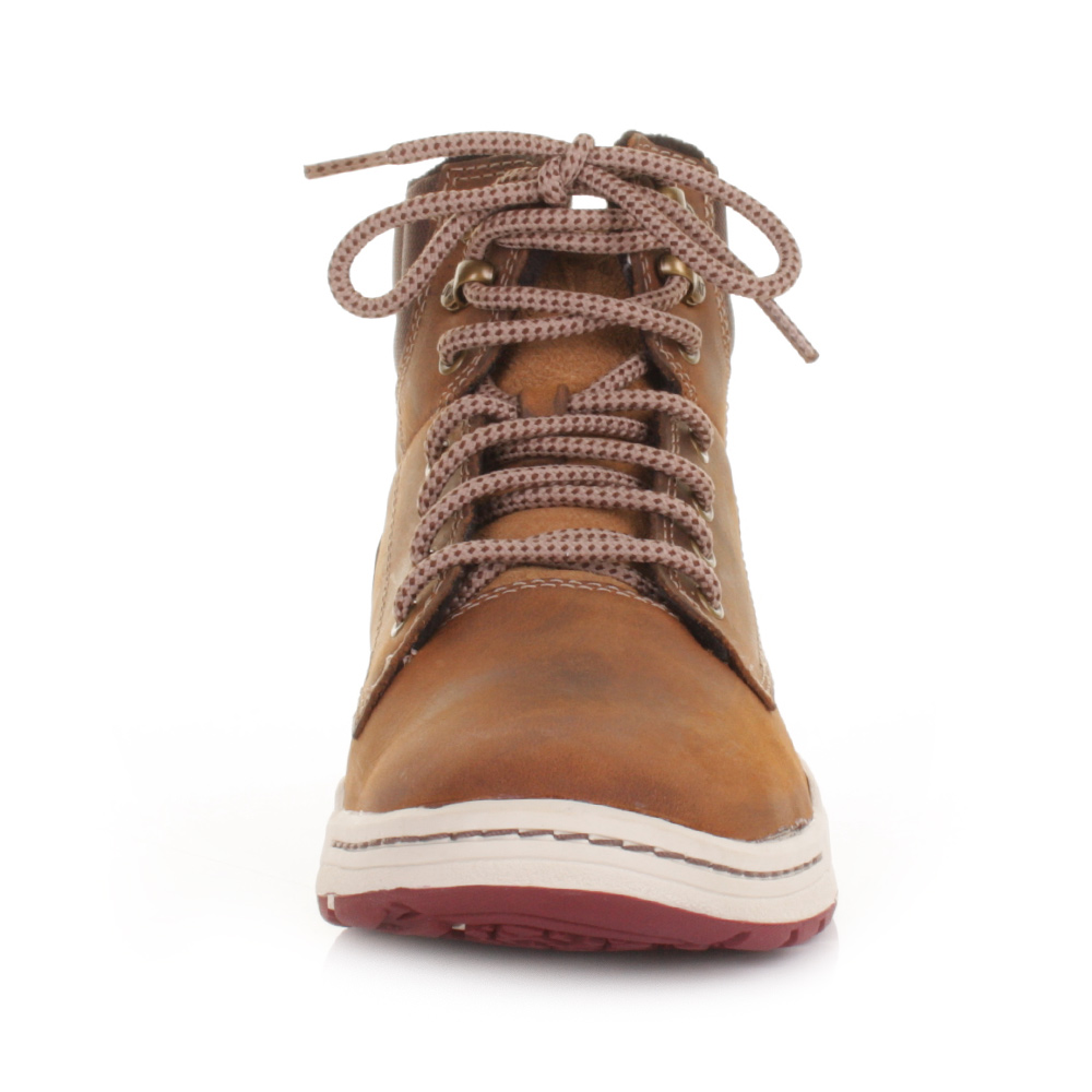 Cat Colfax Mid Dark Beige Leather Casual Active