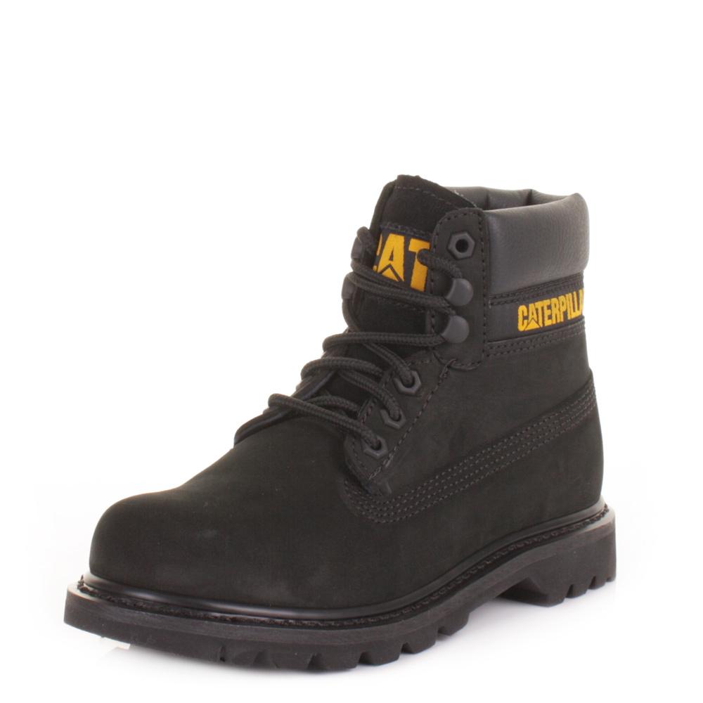 Womens Cat Colorado Black Nubuck Caterpillar Leather Ankle Boots Size 3-8 | EBay