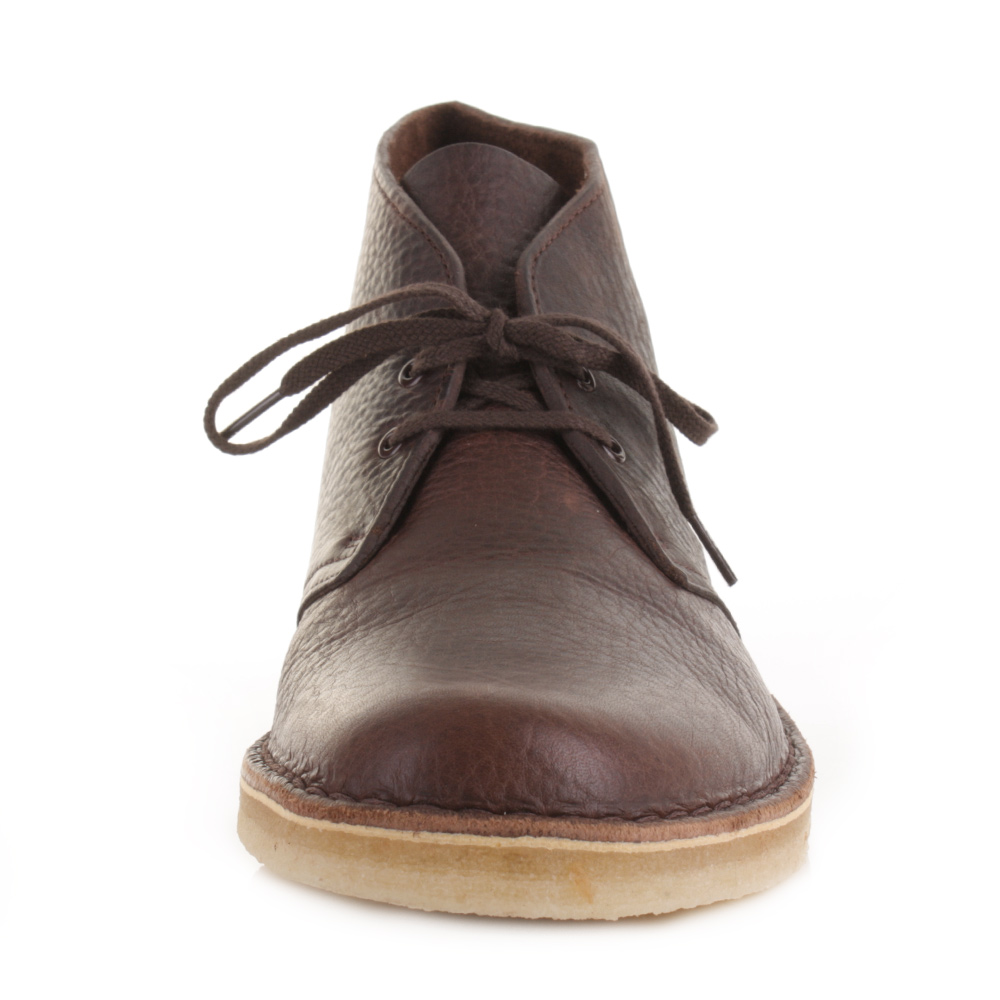 mens clarks originals desert boot brown tumb leather smart casual shoes size ebay. Black Bedroom Furniture Sets. Home Design Ideas