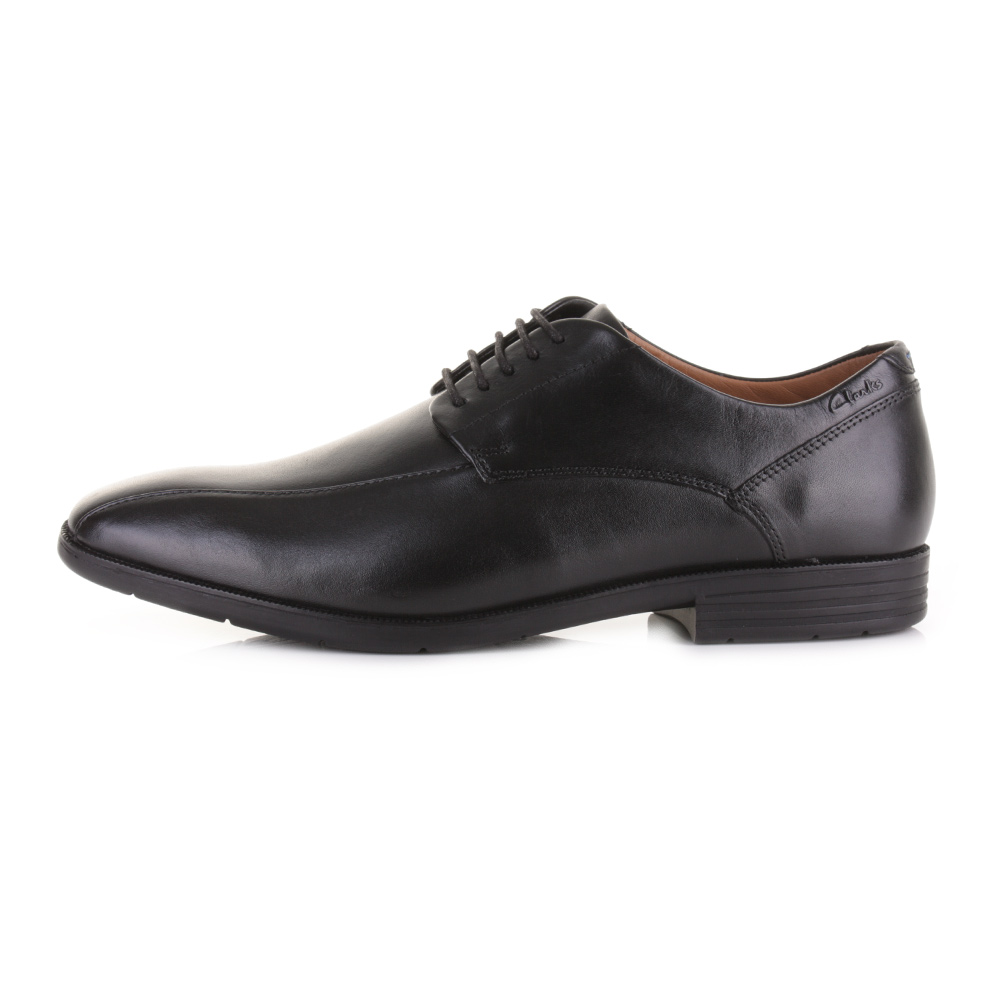 Womens Black Leather Comfort Work Shoes Square Toe