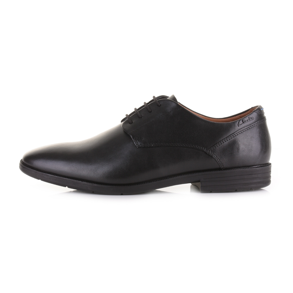 mens clarks glenrise walk black leather lace up smart