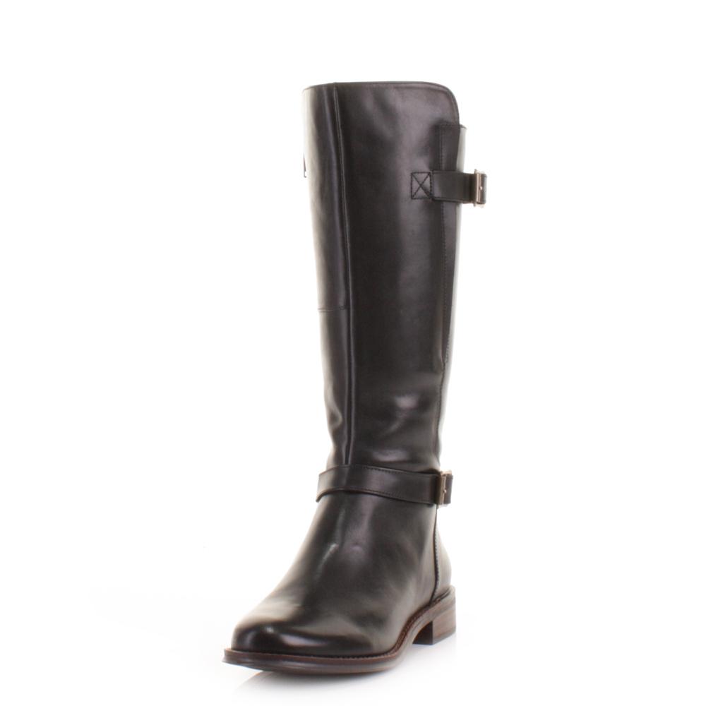 womens clarks mara vale black leather gtx knee high