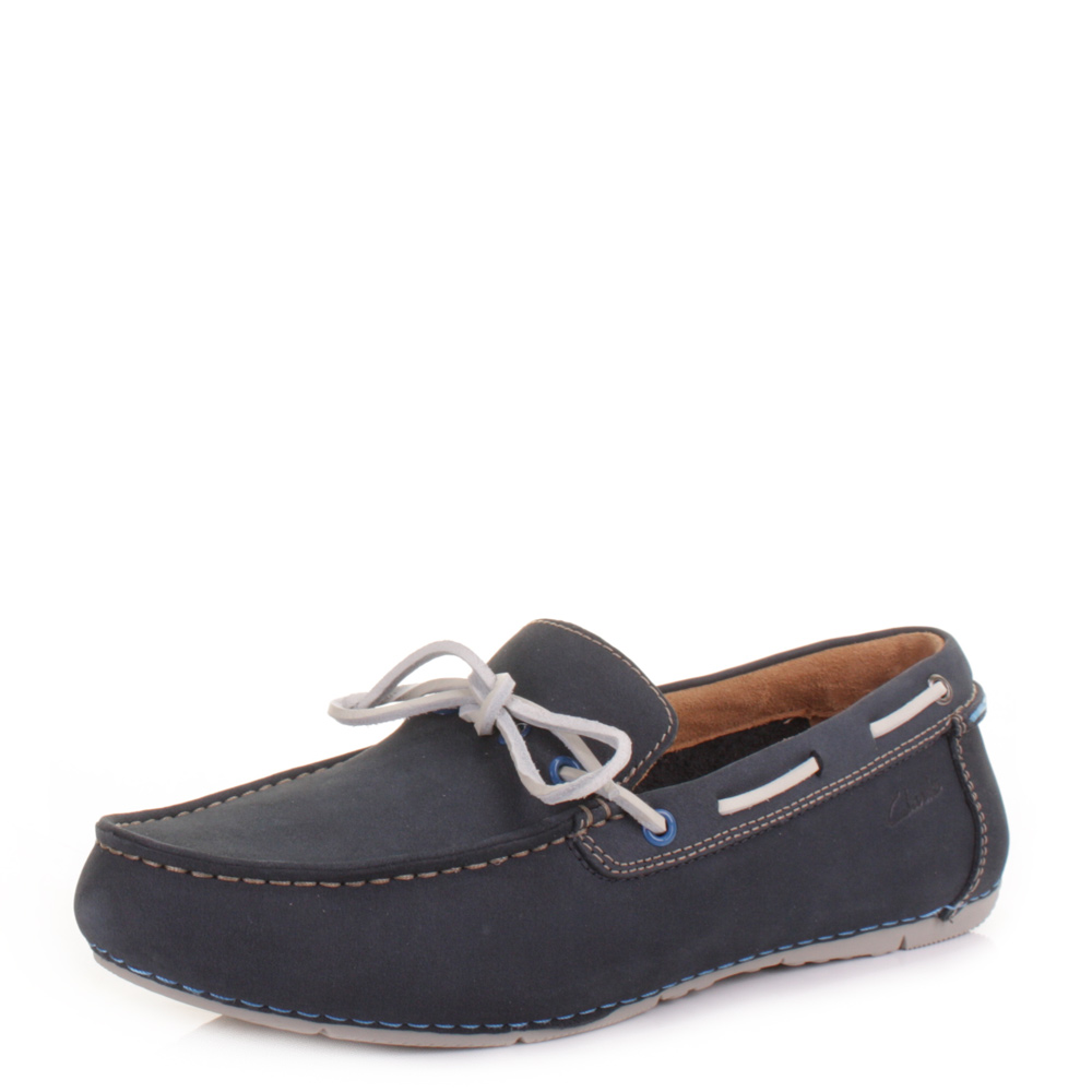 Mens Clarks Shoes Loafers Buckle