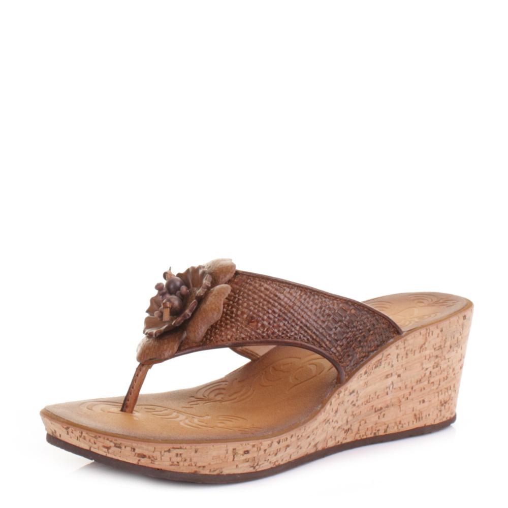 womens clarks rais honey wedge heel mule sandals