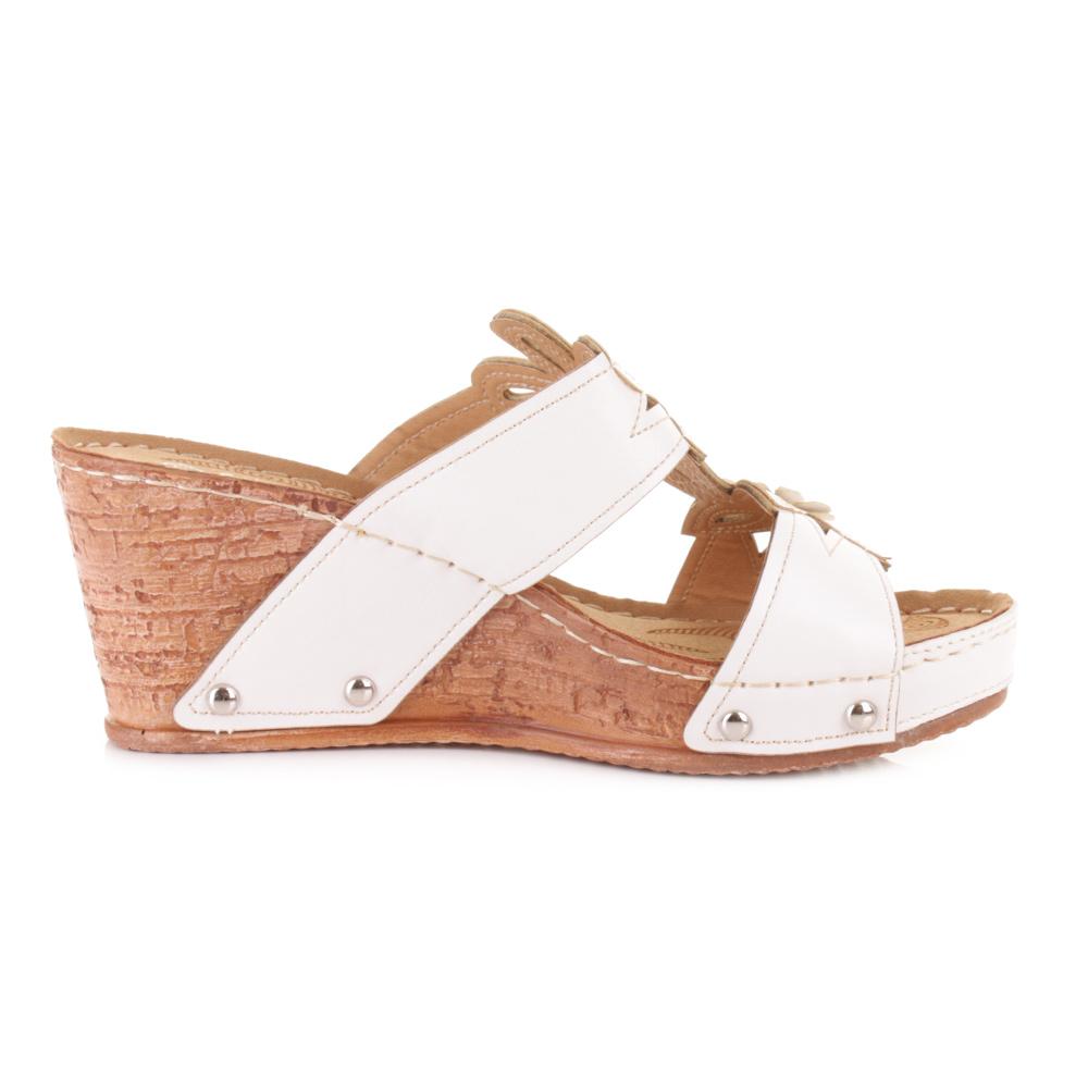 womens slip on mule low wedge heel comfortable