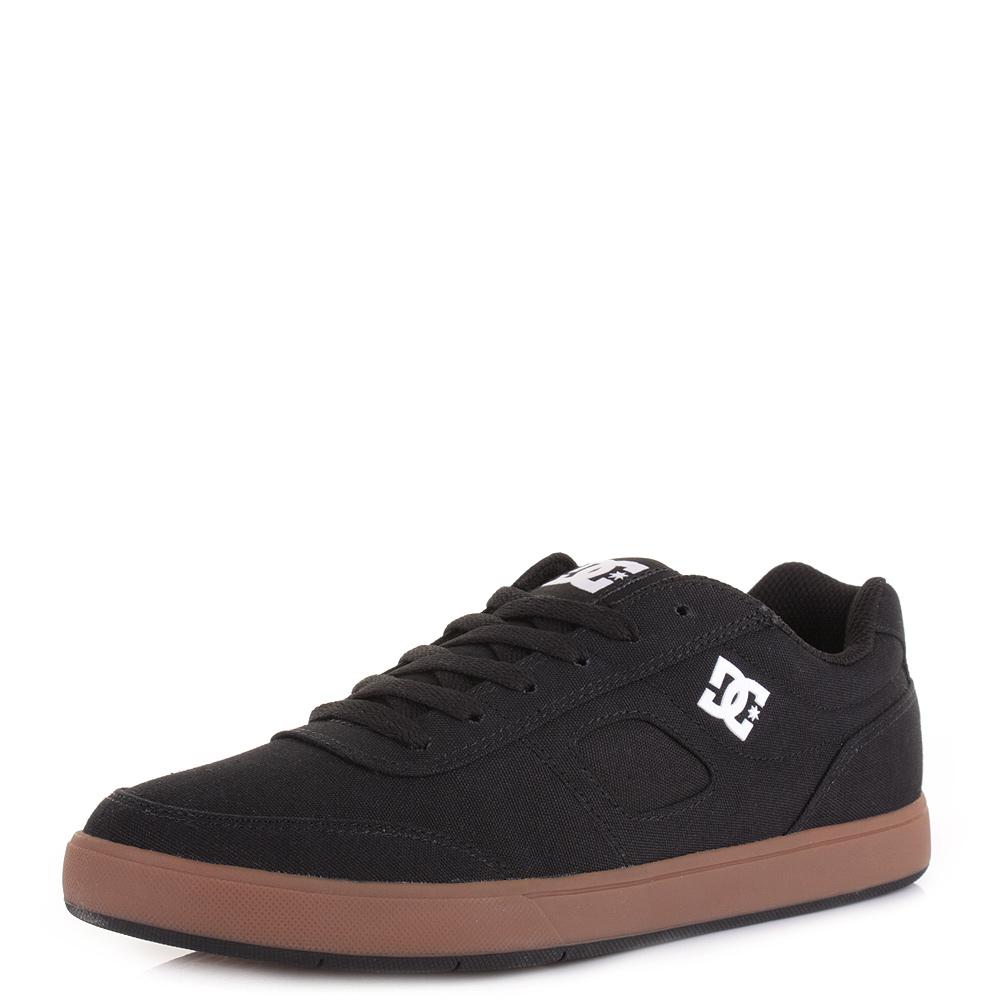 mens dc shoes cue tx black gum casual lace up skate