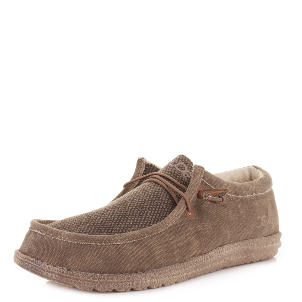 mens dude shoes wally chocolate canvas loafers shoes size