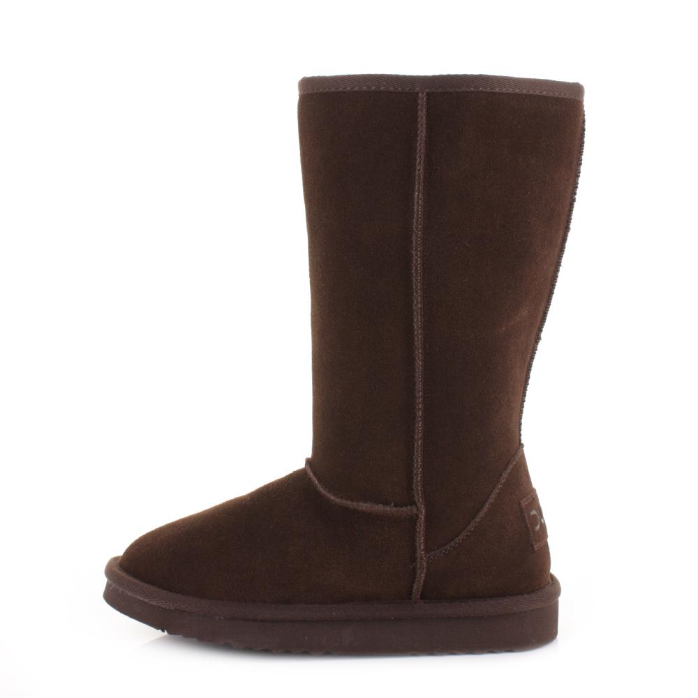 womens dude shoes dolomity espresso suede faux fur warm