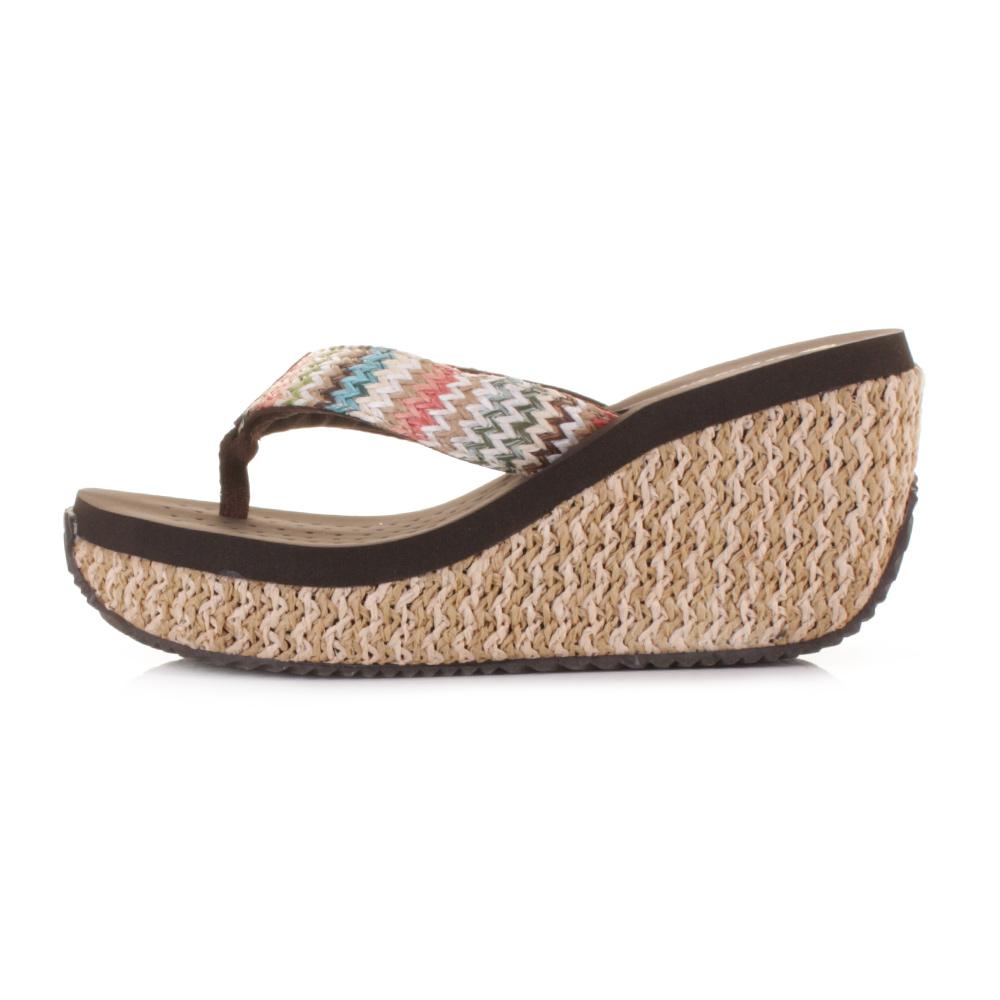 sandalen flip flops damen dunlop bast hoher keilabsatz absatz zehensteg 36 41 ebay. Black Bedroom Furniture Sets. Home Design Ideas