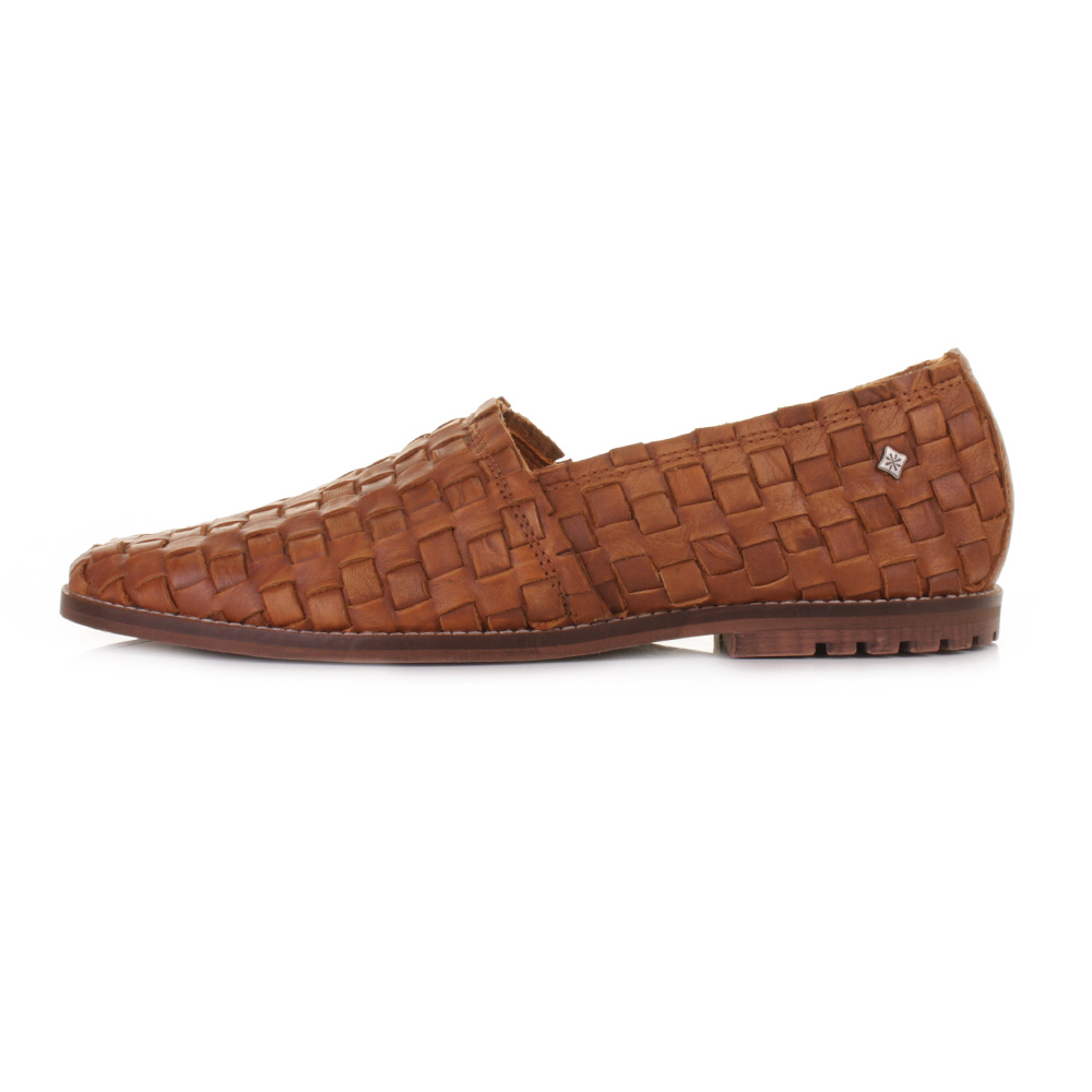 Woven Lace Up Flat Shoe