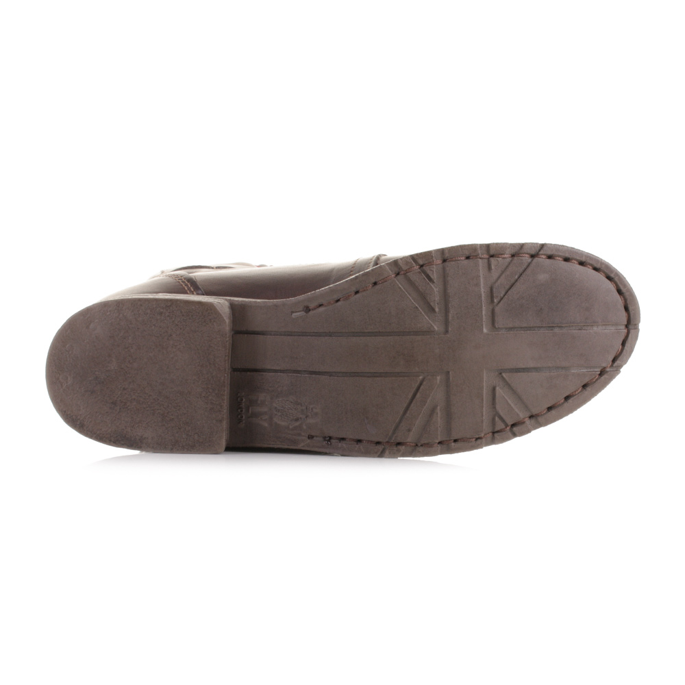 womens fly stiff brown leather special forces