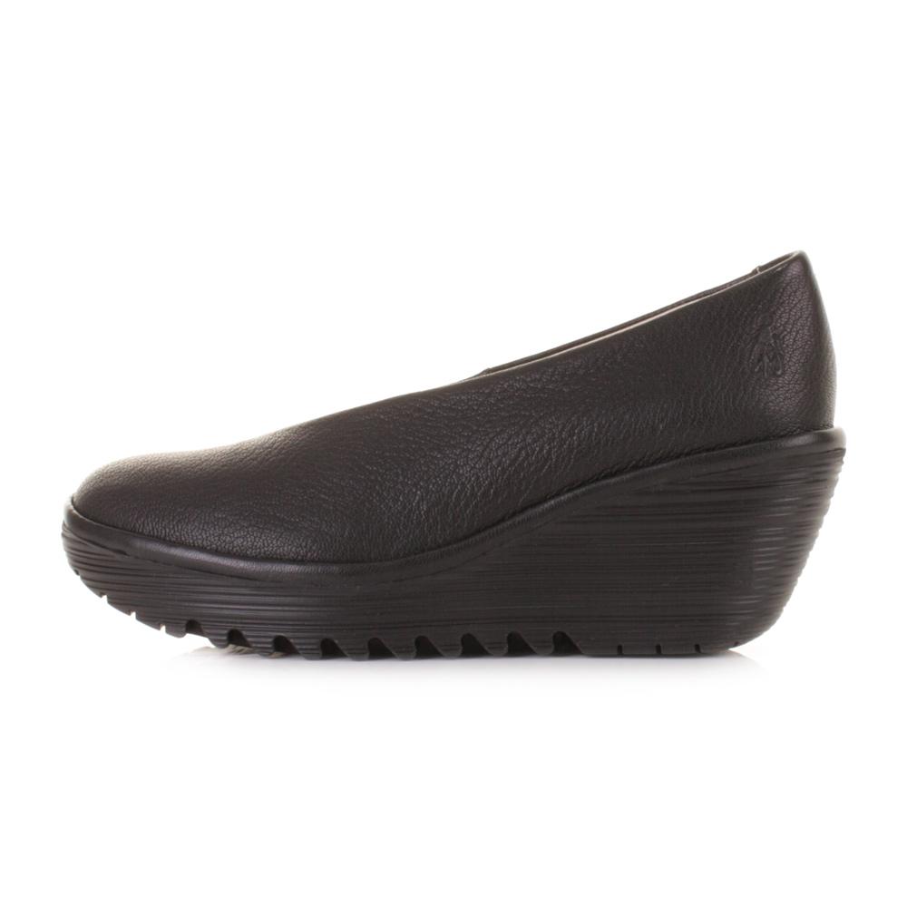 Fly London Yaz Slip On Wedge Shoes