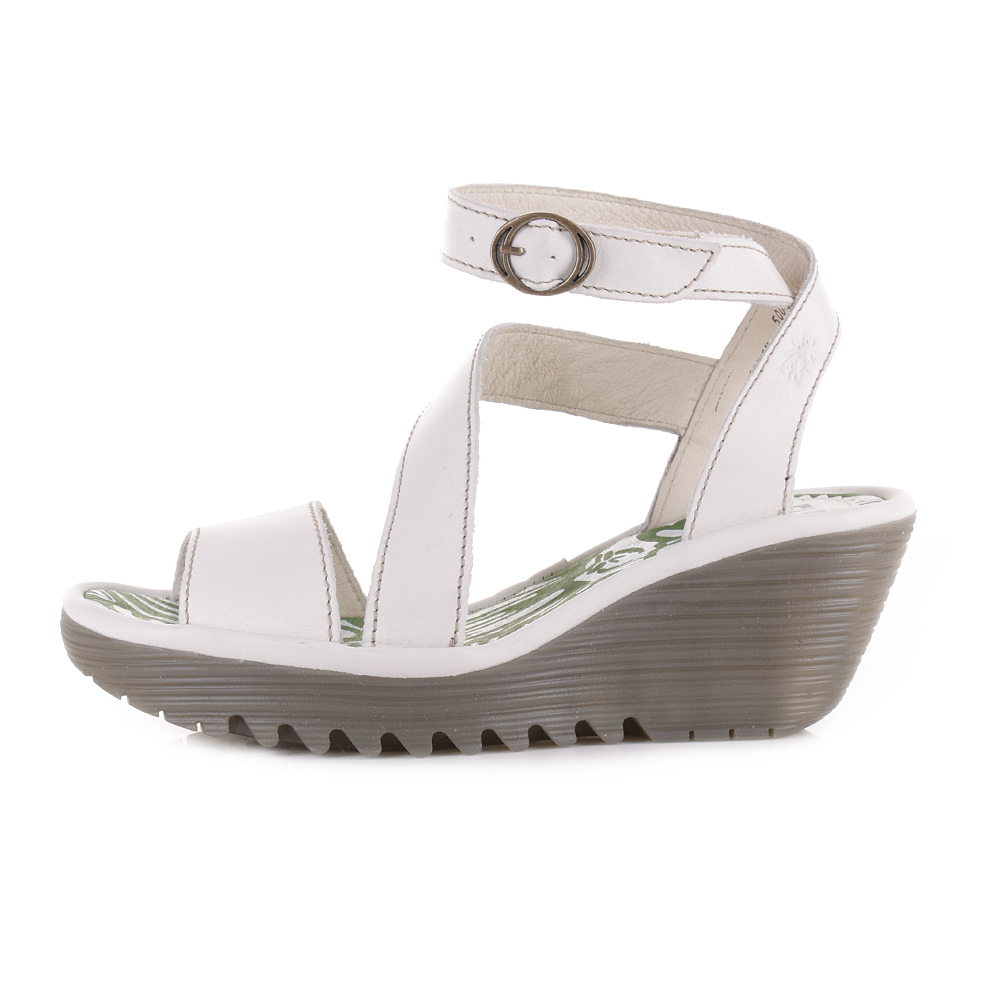 Off White Wedge Heels
