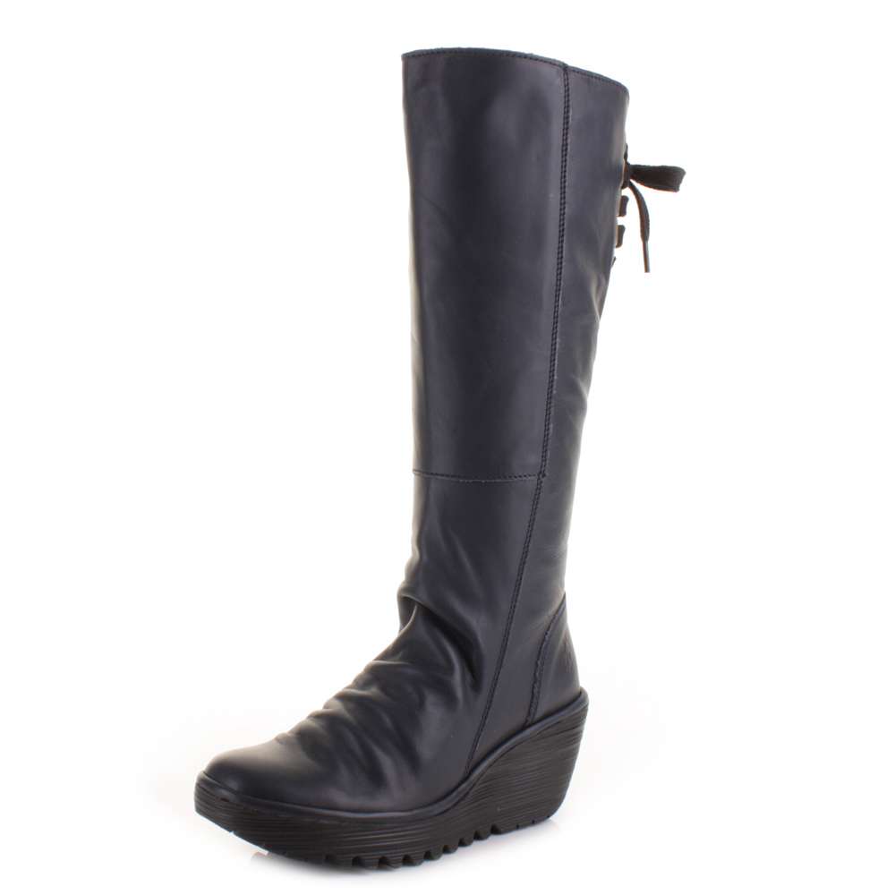 Elegant Home  Womens  Dawson Women39s Knee High Boots In Navy Leather