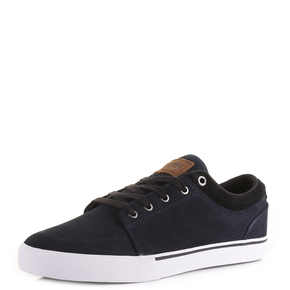 mens globe gs navy suede leather casual lace up skate