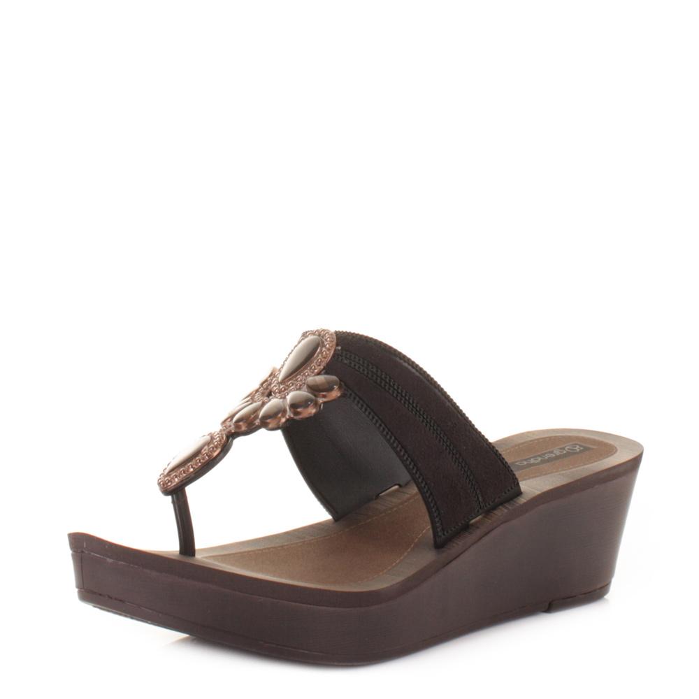 sandale femme noire semelle compens grendha magia ebay. Black Bedroom Furniture Sets. Home Design Ideas
