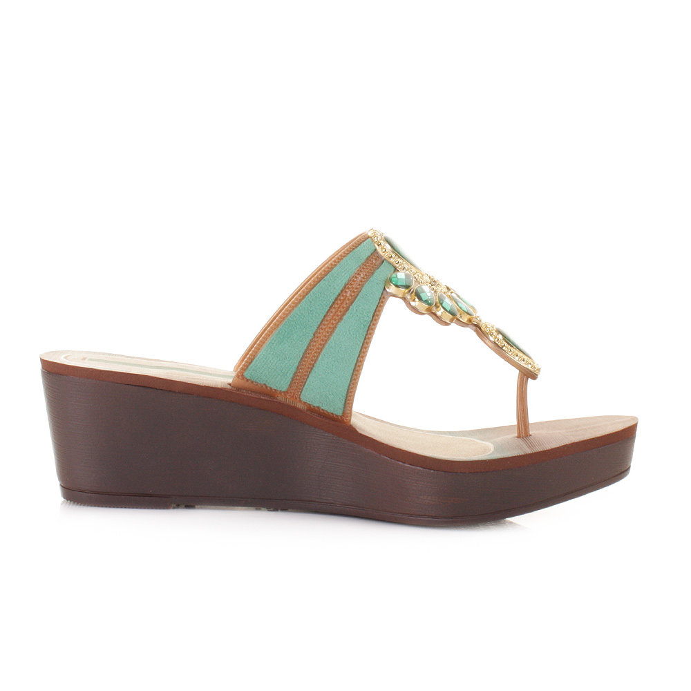 Womens Turquoise Wedge Shoes