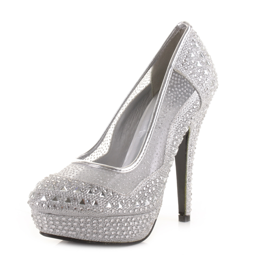 high heels for prom silver - photo #23
