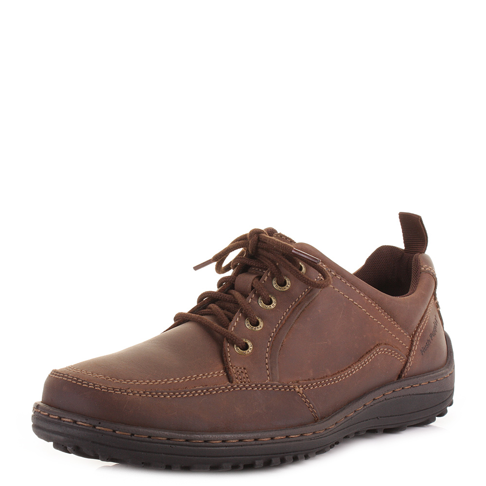 mens hush puppies belfast oxford brown nubuck lace up