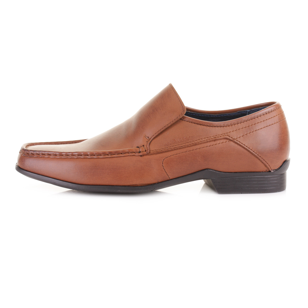 mens hush puppies moderna slip on leather loafers work