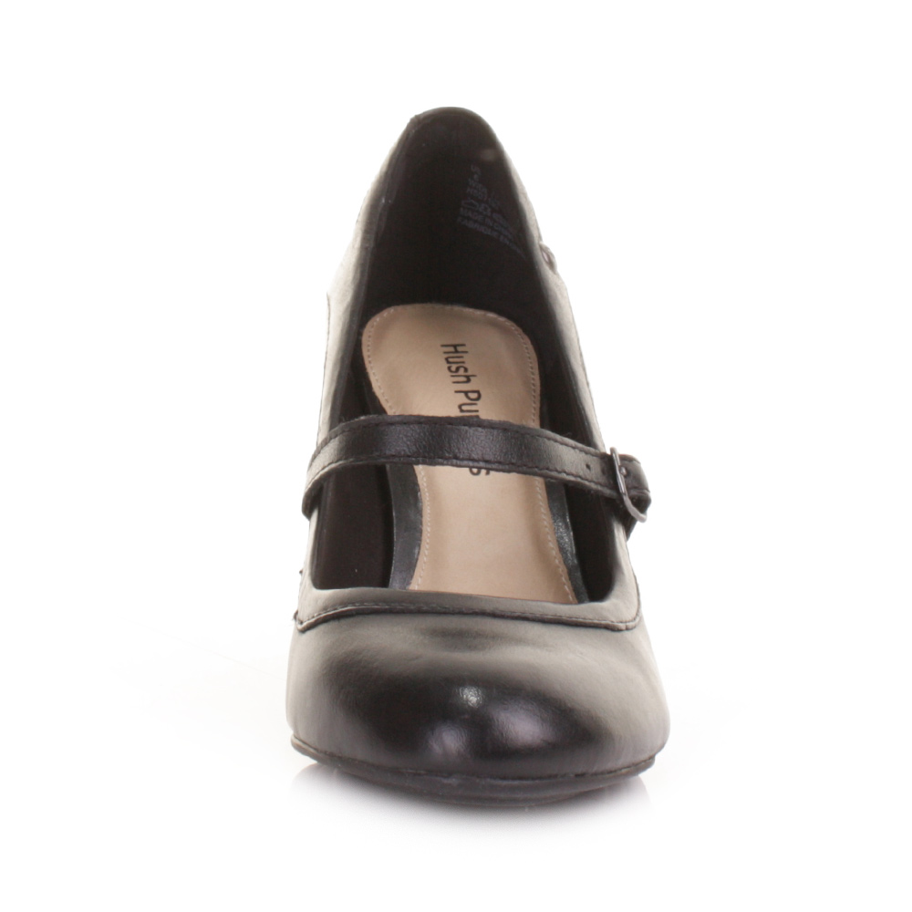 femmes hush puppies sisany mary jane noir escarpin cuir chaussures talon taille ebay. Black Bedroom Furniture Sets. Home Design Ideas