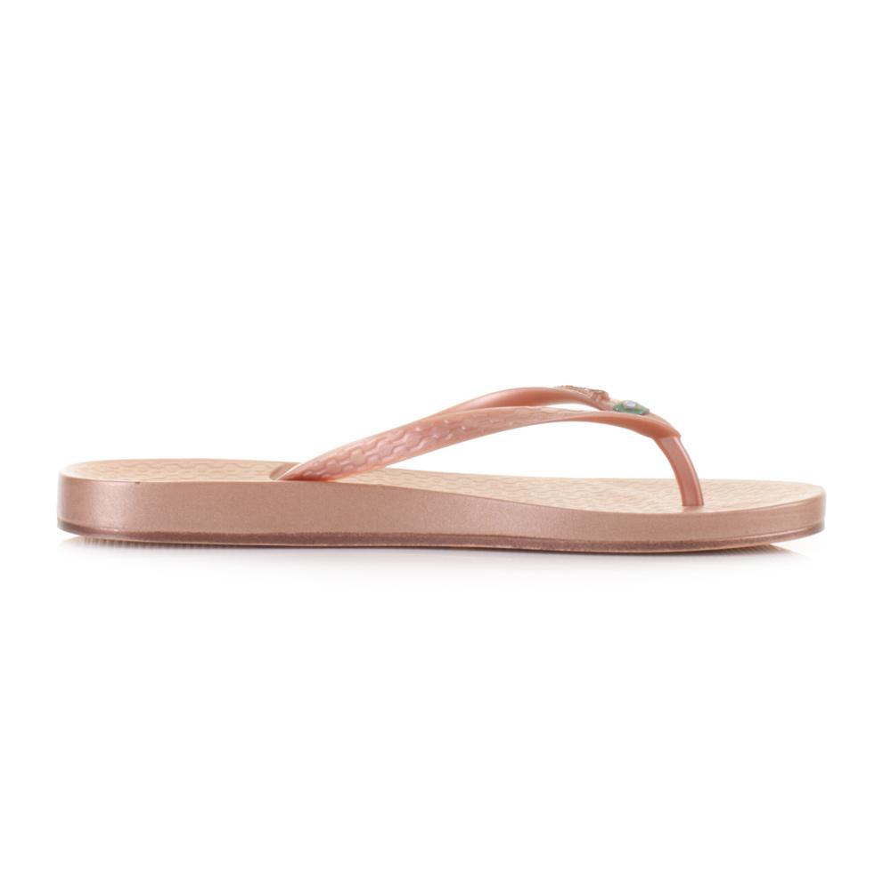 Womens Ipanema Beach Rose Gold Toe Post Flip Flops Sandals