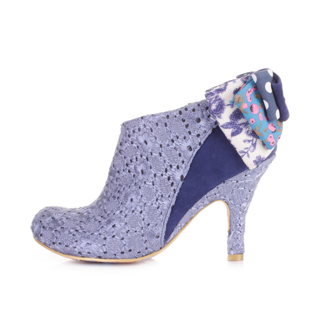 womens irregular choice baby blue multi ankle boots