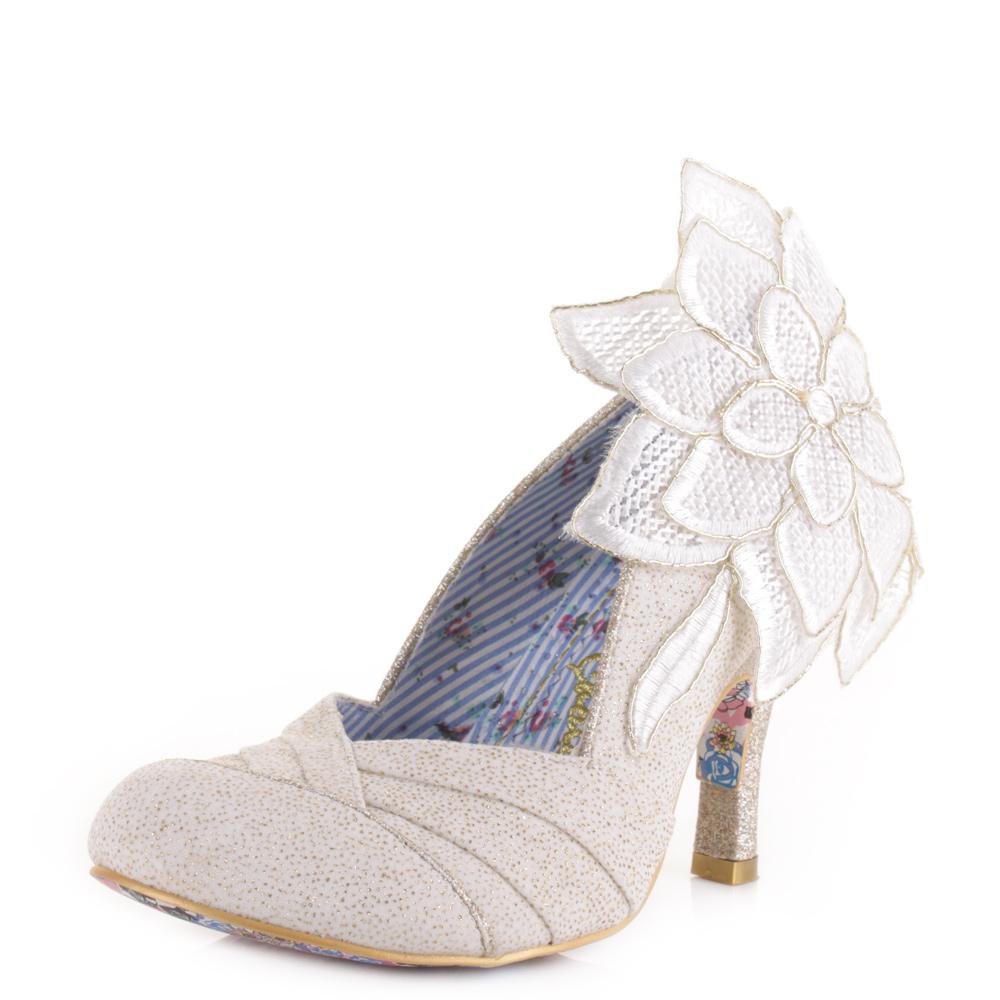 womens irregular choice baby flower high heel