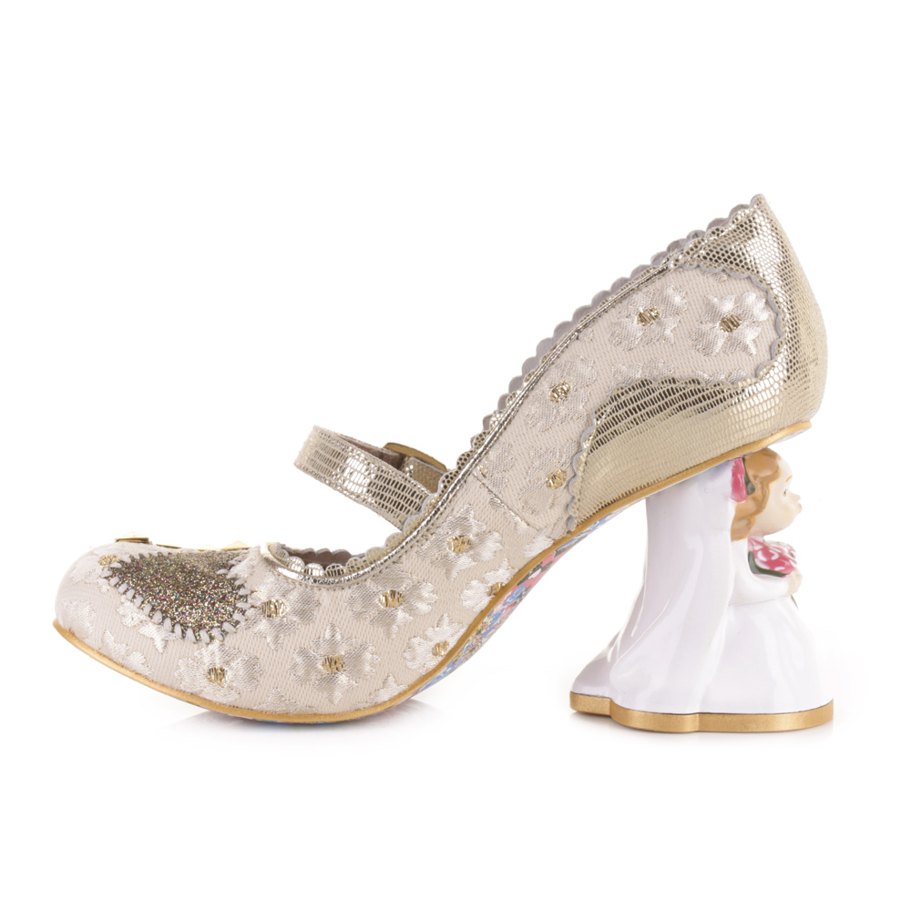Irregular Choice White Wedding Shoes