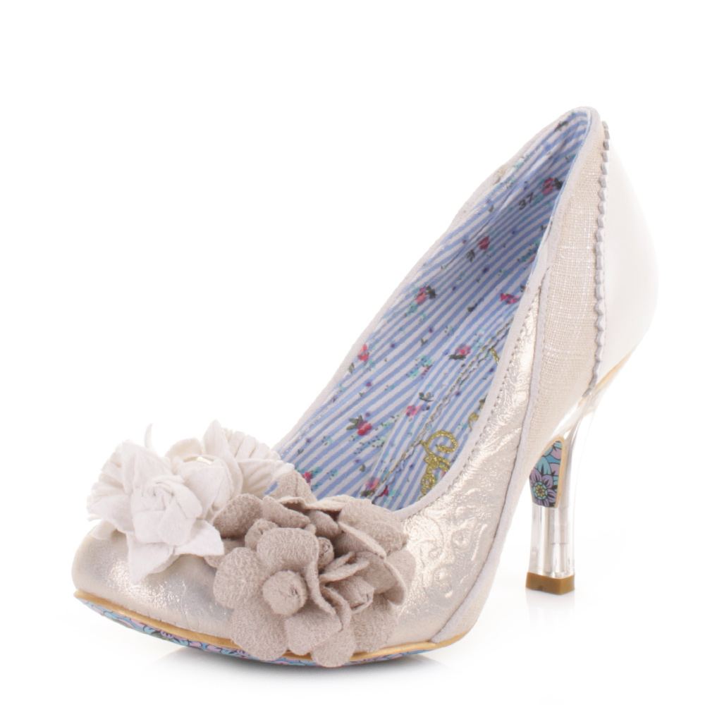 Irregular Choice White And Silver Shoes