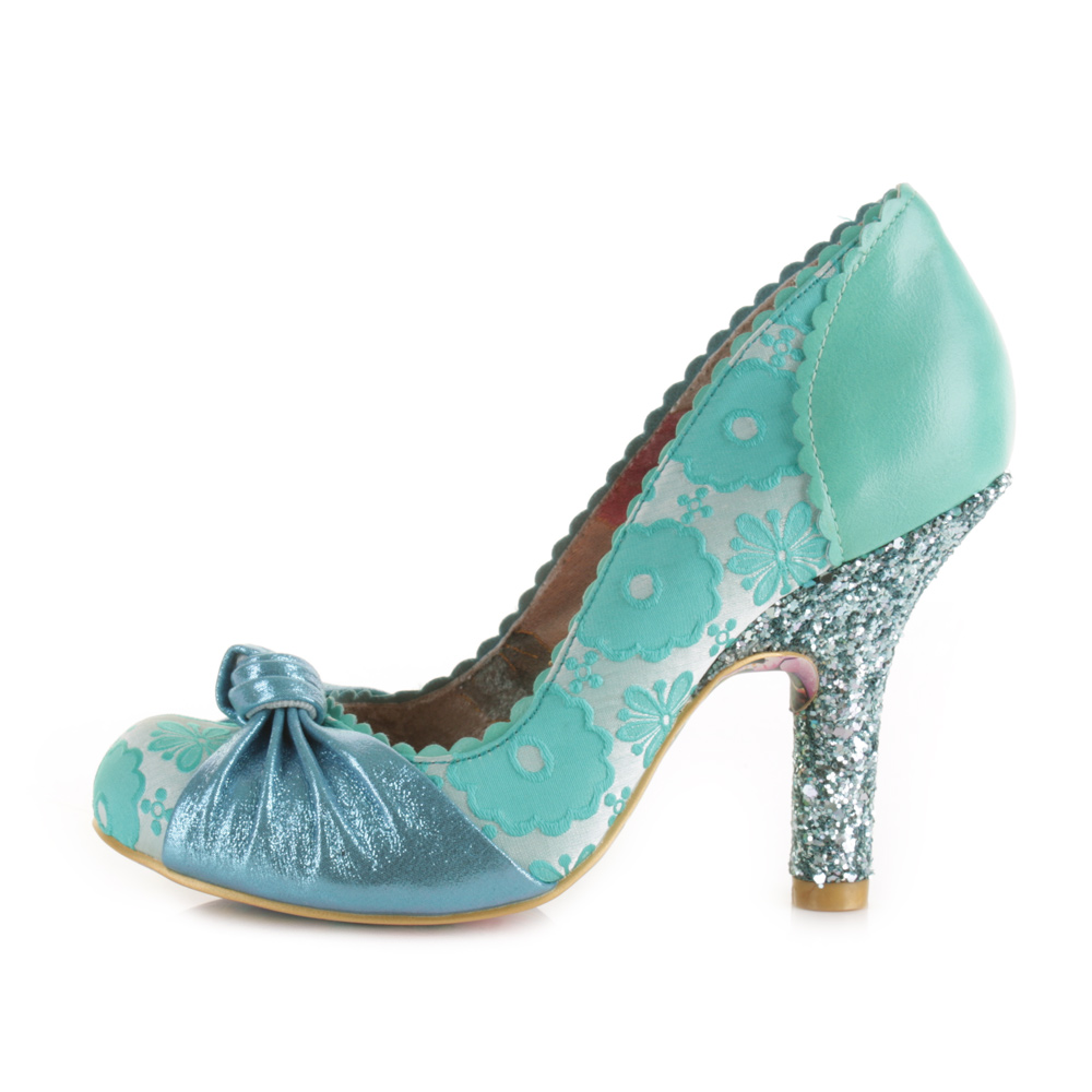 womens irregular choice smarty pants mint blue high heel. Black Bedroom Furniture Sets. Home Design Ideas