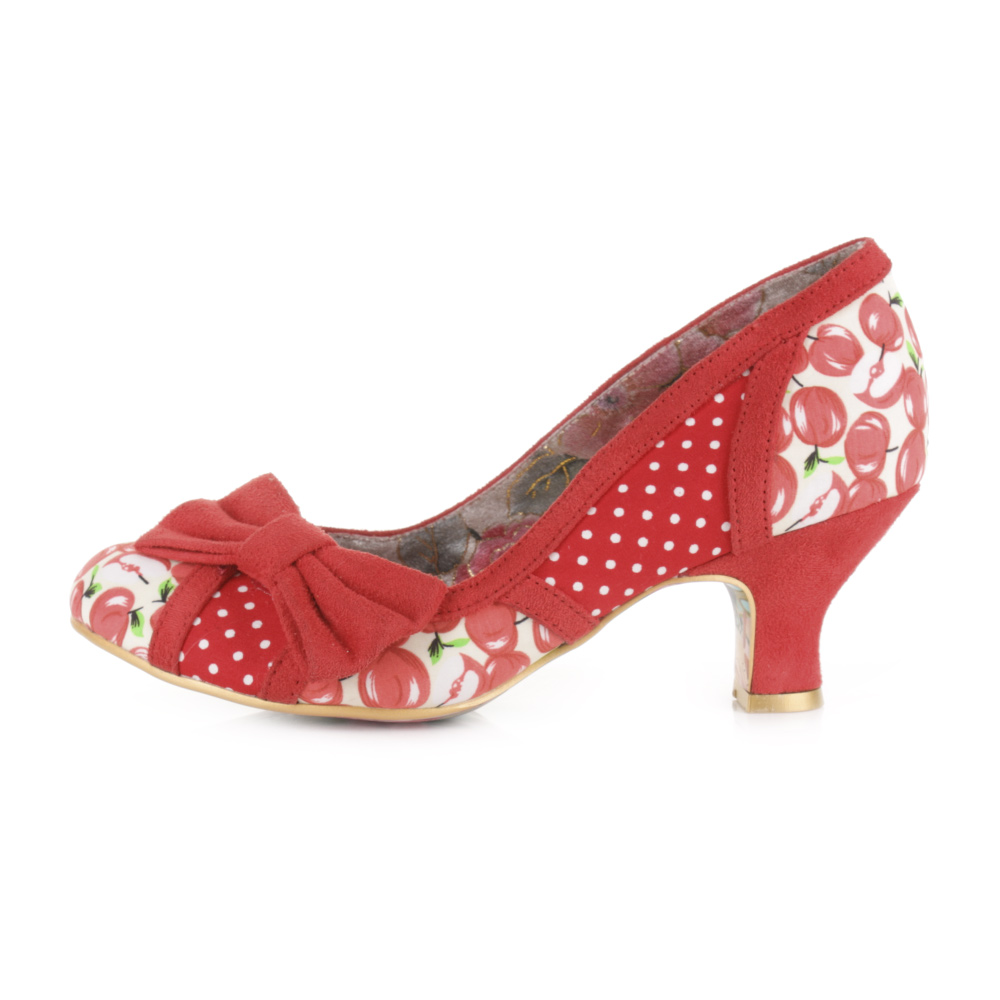 womens irregular choice snapple kitten heel court