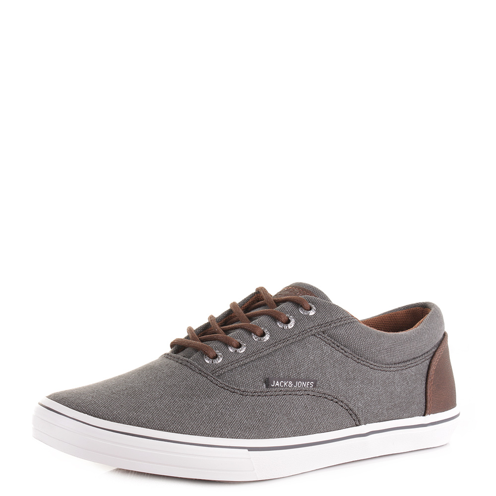 jack and jones vision canvas sneaker pewter plimsole trainers shoes. Black Bedroom Furniture Sets. Home Design Ideas