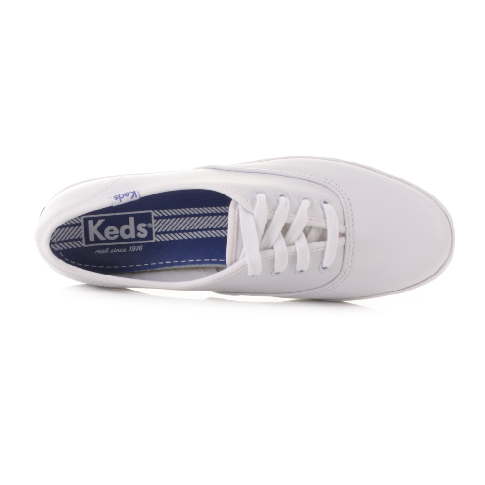 femmes keds champion blanc cuir tennis lacets chaussure. Black Bedroom Furniture Sets. Home Design Ideas