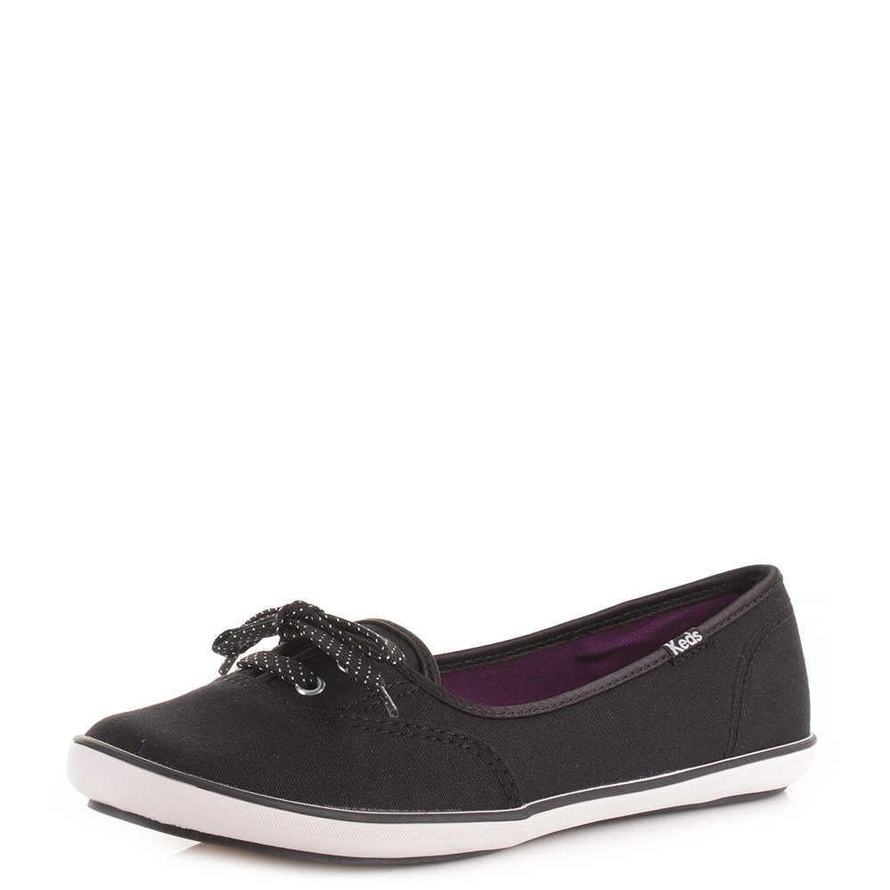 womens keds teacup black canvas cvo casual shoes pumps