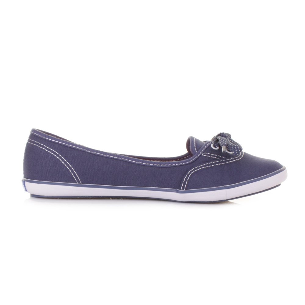 womens keds teacup navy canvas flat shoes pumps plimsolls