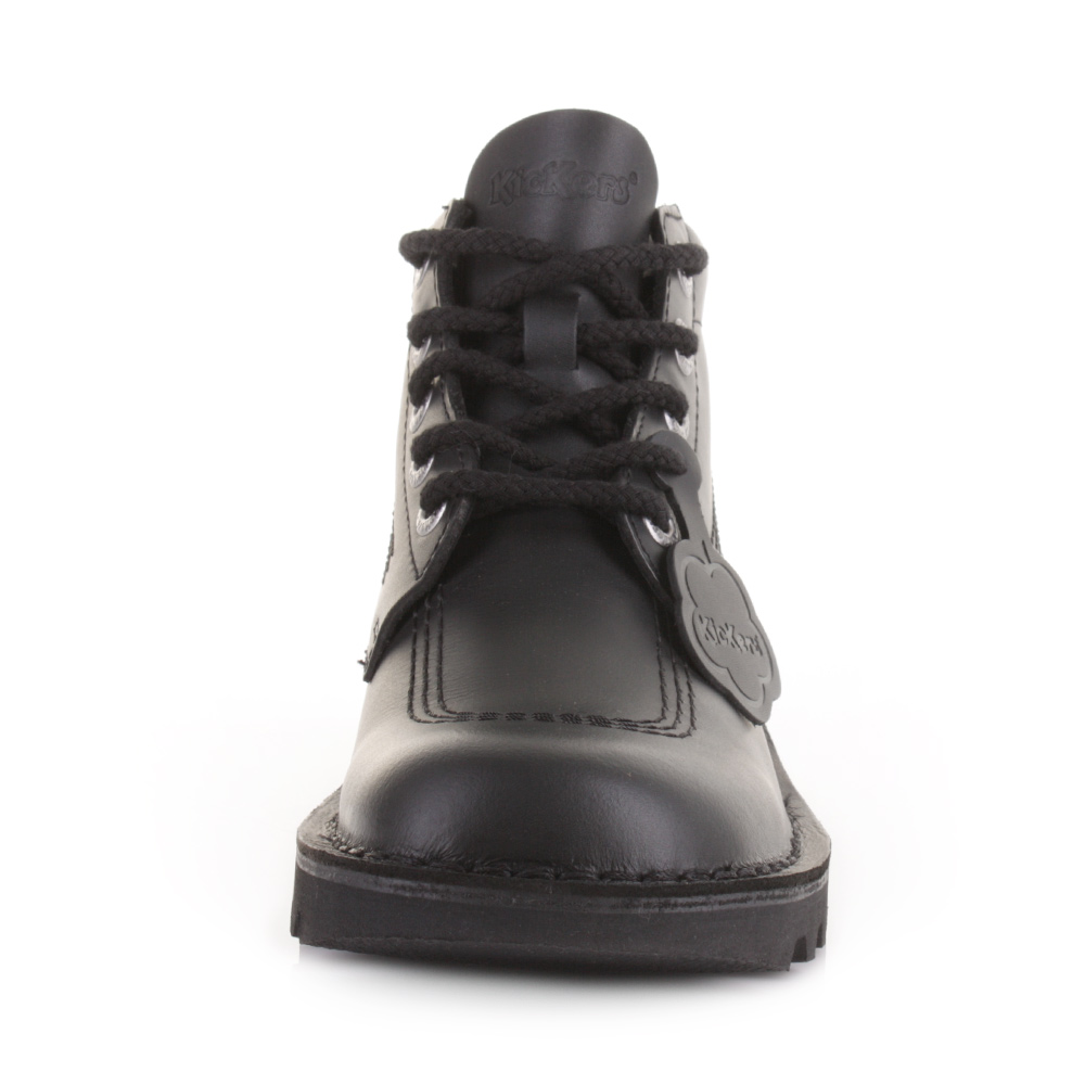 Mens Kickers Kick Hi Black Leather Smart Casual Work