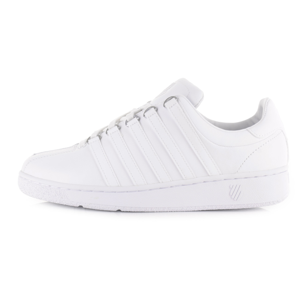 mens k swiss classic vn white white leather trainers